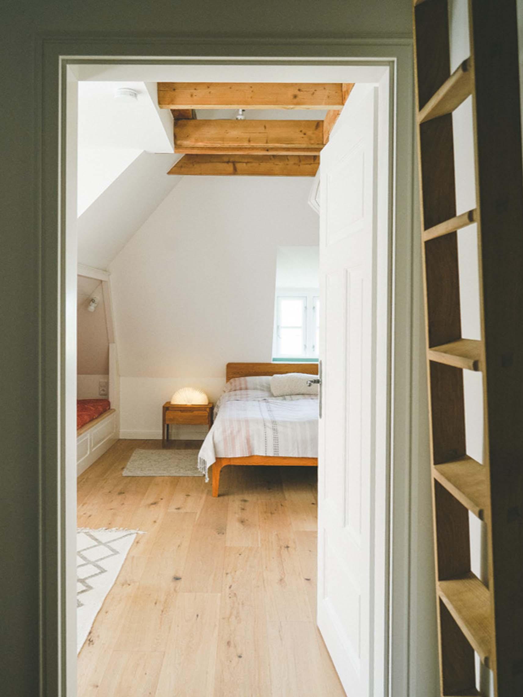 Tammwarftshof Pellworm Ferienwohnung Schlafzimmer